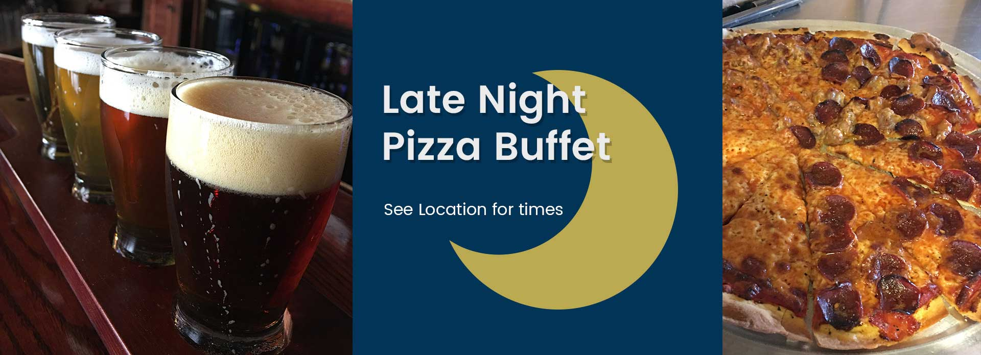 Late night pizza buffet in the Fox Valley, WI