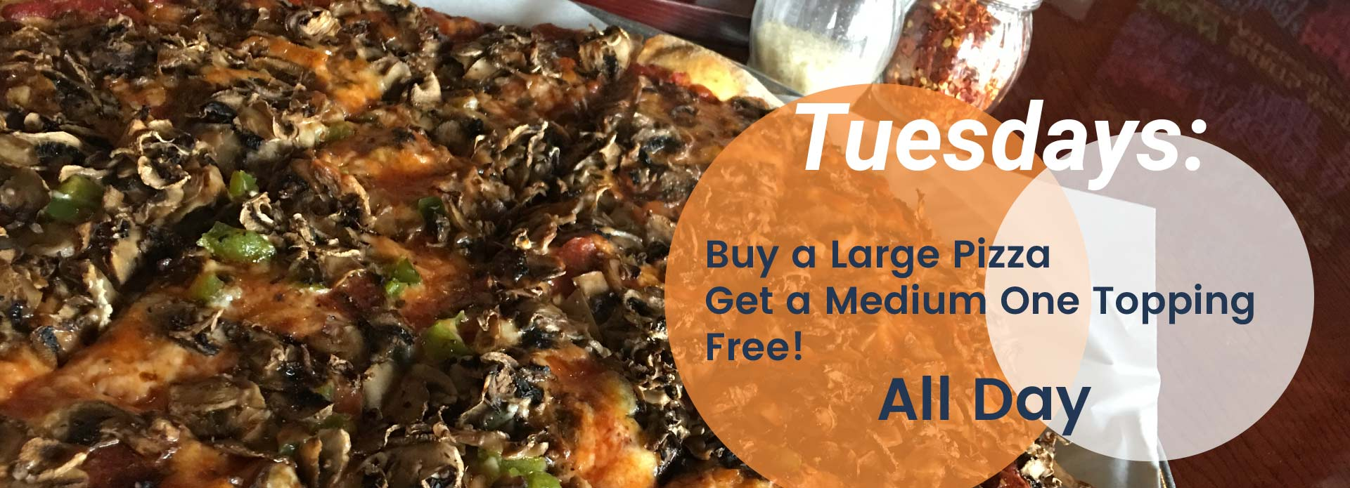 Tuesday Special at Cranky Pats Pizza