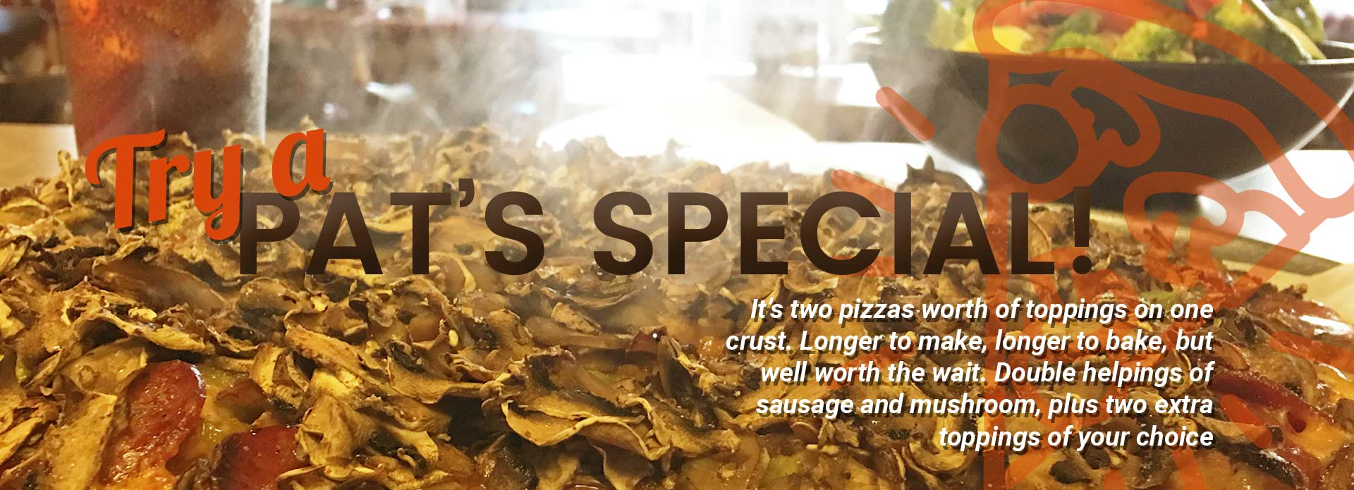 Pats Special at Cranky Pats Pizza